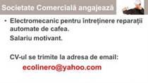 angajare electromecanic pt cafea