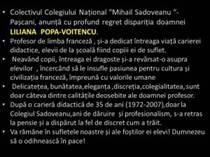 condoleante Sadoveanu