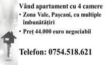 Apt vale 44000 euro