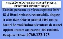 Manipulanti Bucuresti