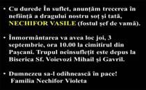 Inmormantare Nechifor