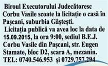 Licitatie Corbu Vasile