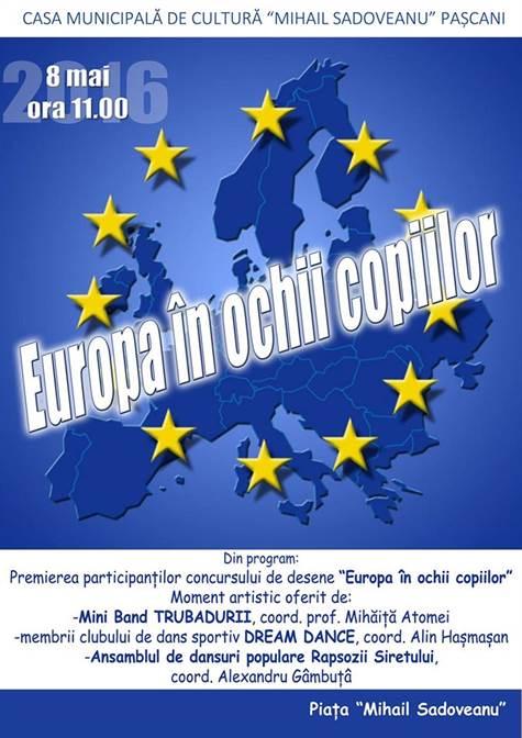 afis Ziua Europei la Casa de Cultura