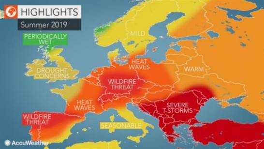 Prognoză Meteo In Europa Pentru Vara 2019 In Romania Vor Fi